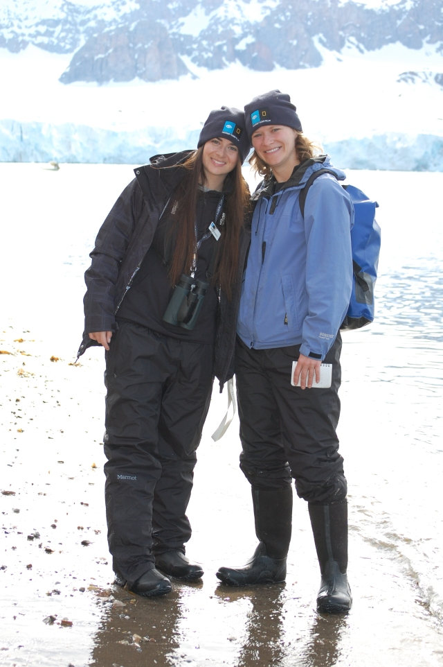 Thanks Ship-to-Shore for lending us these boots that kept Grosvenor Teacher Fellows (Merinda Davis and Laura Schetter) warm and dry!  Photo credit: Christine Ikenega