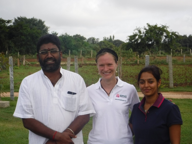 Krishna Prakash (yoga philosophy teacher), me, Hema Balan (yoga instructor)