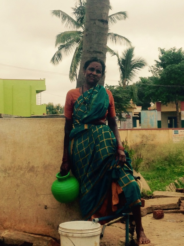 The water lady ensures that her village uses its water wisely.